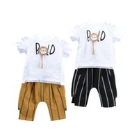 Cute Cartoon Baby Suit Summer cotton Boys Clothing Sets Infa...