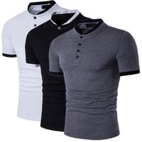 2019 남성 디자이너 폴로 셔츠 유럽과 미국의 새로운 슬림 트렌드 반팔 T 셔츠 남성 캐주얼 악어 폴로 셔츠 WGTX203