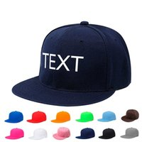 Personalized Embroidery Men Hip Hop Caps Custom Name Text Lo...