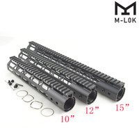 10, 12, 15-дюймовая свободная поплавковая рейка M-Lok Handguard Монолитная верхняя рейка .223 / 5.56 Алюминиевая цилиндрическая гайка