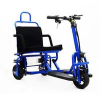 Elektro-Dreirad 3-Rad-Elektro-Scooter 48V 350W faltbarer elektrischer Roller mit Sitz für Behinderte / Ältere