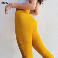 Le Nakai Femmes taille haute Gym Leggings Rose Vital Sport Fitness Leggings sans couture de jogging Femme Sexy Booty Activewear Pantalon de yoga MX200329