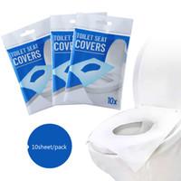 10sheets / lotto Fogli Di Disposable Toilet Seat Covers compresse solubili in acqua portatili batteri Pad carta Impedire per esterni