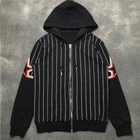 Chaqueta para hombre Outerwear Stars Chaqueta de impresión Hombres Mujeres Rayas con capucha Chaqueta fina chaqueta para hombre Tamaño M-XXL