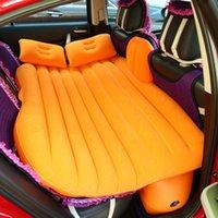 Универсальный воздушный надувной матрас заднее сиденье автомобиля путешествия кровать открытый многофункциональный кемпинг коврик матрас подушка с подушками