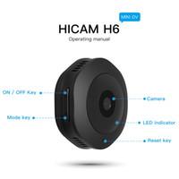 Hareket Sensörü Kamera dijital Ses Video Kaydedici ev güvenlik Kamera ile H6 DV / Wifi Mikro Kamera Gece Sürüm Mini Eylem Kamera