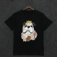 Art und Weise der neuen beiläufigen Mens Stylist-T-Shirt Paare weicher Baumwolle Dog Drucken mit kurzen Ärmeln Herren Damen-T-Shirts