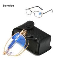 Heiße Männer Frauen Bifokalwillen Lesebrillen Presbyopic Brille Klarglas-Objektiv Unisex Randlos Anti-blaues Licht Brille
