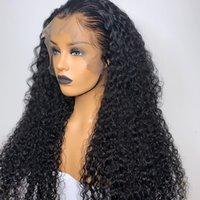 Court Bob Lace Front perruques de cheveux humains brésiliens bouclés perruque de cheveux humains pour les femmes noires 180 Densité vague profonde 13x4 Lace Wig