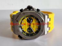 5 цветов мужские часы высокое качество 42 мм Дуб оффшорный дайвер Хронограф26703st кварцевый механизм серии резиновый пояс мужской циферблат стекло назад