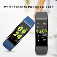 ID115 플러스 스마트 팔찌 팔찌 심박수 LED 컬러 모니터 혈압 시계 아이폰 안드로이드 전화에 대한 보수계 피트니스 트래커