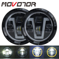7inch Round Led Headlight For Lada 4x4 urban Niva suzuki sam...
