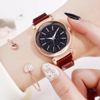 Charming Red Ladies Casual Watch 2019  Women Starry Sky Magnetic Clock Fashion Female WristWatches Girl Gifts montre femme