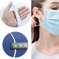 3mm 탄성 마스크 코드 earloop 코드 무거운 스트레치 꼰 문자열 밧줄 봉제 공예 DIY, 귀 착용 커프스를위한 탄성 마스크 스트랩