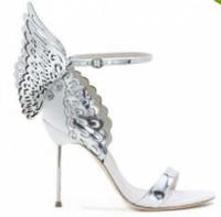 Sophia Webster Evangeline Angel Wing Sandal Plus Bombas de boda en piel genuina Zapatos con purpurina en color rosa Zapatos Mujer Mariposa Sandalias