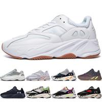 cheap for discount 6861c 70cf6 Hot New Kanye West 700 Statique 3 M Mauve Inertia 700s Wave Runner Hommes  Chaussures de