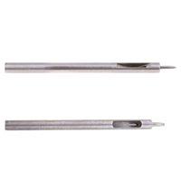 Conjunto de 2 agujero redondo Drive Punzón para la correa de cuero del reloj de la banda de juntas de 0,5 mm y 1,0 mm Diámetro