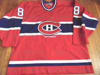 Cheap custom VTG CENTER ICE CCM MONTREAL CANADIENS MARK RECC...