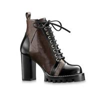 Роскошный женский дизайнер Boots печати Martin пинетки Платформа Работа загрузки Снег загрузки Леди Браун Черный Белый Ботильоны зимняя обувь 2020 новые