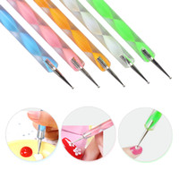 NA025 5Pcs Set DIY Two- Way Nail Art Dotting Pen Tool Stylus ...