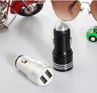 Universal 3.1A Sécurité Chargeur de voiture en métal en métal en métal en aluminium pour Samsung Xiaomi Téléphone Android 2 ports Sortie USB Adaptateur de charge rapide