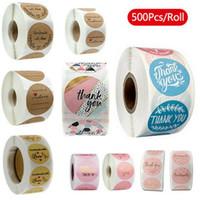 500pcs / roll 10 stili fiori del cuore Thank You sticker adesivo Scrapbooking mano business del packaging Seal decorazione adesivi