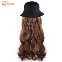 Meifan 2020 Yeni Moda Kadınlar Beyzbol şapkası Peruk Casual Streetwear Hip Hop Cap Sentetik Hat ile Doğal Peruk
