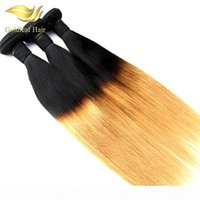 Goldleaf Wholesale Two Tone Ombre Hair Straight Human Hair W...