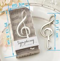 Творческий подарок на вечеринку уникальные свадебные сувениры симфония хром музыкальная нота открывалка для бутылок свадебный подарок