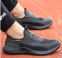JACKSHIBO printemps et chaussures de travail automne de sécurité des hommes bottes embout en acier anti-hommes chaussures Smash de construction bottes de sécurité travaillent chaussures