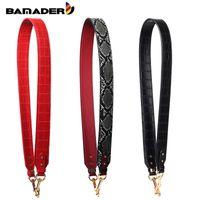 BAMADER Nouveau mode Motif serpent large sangle d'épaule de haute qualité Sac Motif Crocodile Sac Bracelet en cuir véritable Accessoires CJ191217