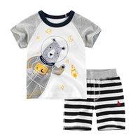BINIDUCKLING Yaz Moda Bebek Boys Çocuk Giyim Karikatür Çocuk Çocuk Giyim Pamuk Tişört + Şort Bebek Boy Giyim Setleri