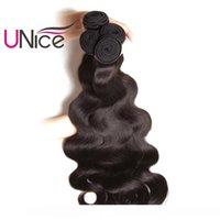 H UNICE Saç Malezyalı Vücut Dalga 5 Paketler% 100 İnsan Saç Uzantıları Bakire İnsan Saç Dokuma Paketler Dalgalı Dalga Toptan Ucuz Toplu Ch