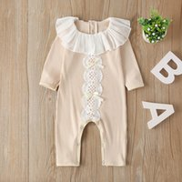 Melario Baby Autumn Clothes Newborn Infant Baby Girls Rompers Knitted Ribbed Jumpsuit Solid Clothes Warm Outfit
