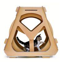 caminadora papel corrugado ferris rueda de muebles para mascotas por arañazo de gato grab tablero de rastreo rotación estantería