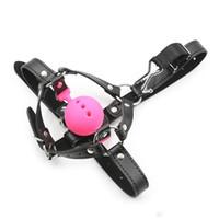 ハーネスマウスギャグラージBDSMボンデージシリコーンボールギャグ鼻フックフェチ遊びおもちゃ主婦のための奴隷拷問拘束