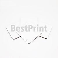 4MM سميكة شكل مربع MDF التسامي الفراغات السفينة التسامي الطباعة الرقمية القدح كأس حصيرة