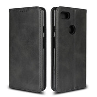 Luxus echte reale Leder-Kasten für Google Pixel 4 XL 4 Business-Mappen-Kasten für Google Pixe 3 XL 3A 3
