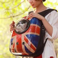 Cani Carrier Mesh borsa Pet Travel colorato elemento portante del gatto traspirante-zaino portatile doppio Borsa a tracolla Outdoor