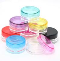 5G / 5ML de Alta Calidad de Plástico Transparente Frascos de Contenedores Cosméticos Con Tapas Negras Crema Crema de Maquillaje de Maquillaje Sombra de Ojos Nails Powder Jewelry
