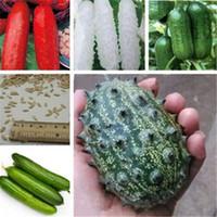 Gran promoción !! 100 unids Semillas Mini pepino Bonsai Rare Non-GMO Delicioso Pepino Fruta Fruta Vegetal Plant For Home Garden Planting