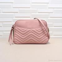 Дамский дизайнерский бренд Логотип Geniue кожи плеча сумки Женская Сеть TOP Качество Wave Pattern Drop Shipping Основная Corssbody сумка