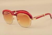 2019 neue hochwertige Natürliche Holz cross-browed Sonnenbrille, Holz full frame Mode Gravur Objektiv Sonnenbrille 1116728 Größe: 60-18-135mm