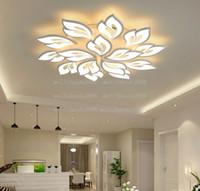 Uygulama Uzaktan Kumanda Fonksiyonu ile Modern LED Avize Oturma Odası Yatak Odası Ev Avizeler Tavan Akrilik Işık Sarkıt Lambaları Myy