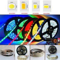 Lampe de bande LED 5050 5630 2835 Lampe à corde flexible 5m 60leds / m 300led SMD 12V Lampe pour la cuisine à la maison sous Cabinet
