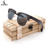 BOBO BIRD Sunglasses Women Men Polarized Retro Wood Sun Glasses UV400 Eyewear in Wood Box CX200707