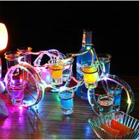 Avrupa tarzı bisiklet şarap rafı set şarj edilebilir Şampanya Kokteyl raf Parlayan Parlak Bira şarap şişesi tutucu LED