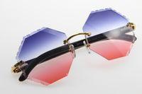 2020 commercio all'ingrosso di vendita originale bianco nero all'interno corno di bufalo occhiali da sole modo di alta qualità 4.189.706 Occhiali da sole maschile e femminile