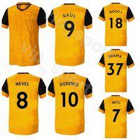 2020 2021 lobos futebol Jersey 9 RAUL 8 NEVES 2 DOHERTY 18 DIOGO 10 Podence 37 ADAMA coady NETO OTTO futebol da camisa Kits