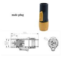 Freeshipping 10pcs di alta qualità 20A Powercon impermeabile grande schermo LED Power Plug PA66 ignifugo Connettore di alimentazione industriale OUT / IN